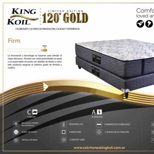 Colchon y sommier King Koil gold firm