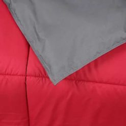 Simil Plumon Gris Rojo