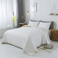 cobertor Natural y Blanco